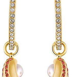 Women's Shell Pearl Hoop Pierced Earrings